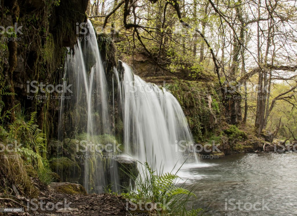 Ystradfelte waterfall Brecon Beacons Wales stock photo