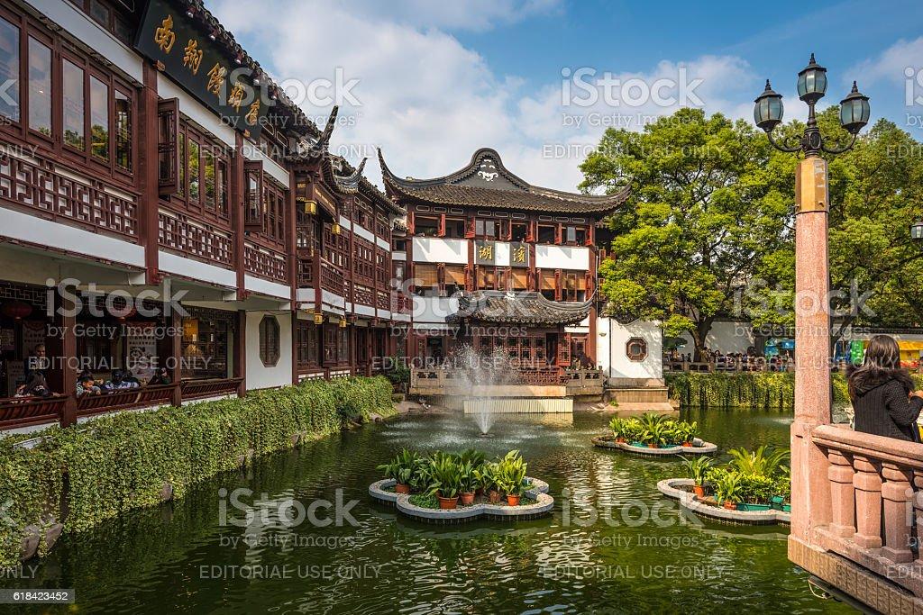 Yu Garden or Yuyuan Garden at Shanghai, China stock photo