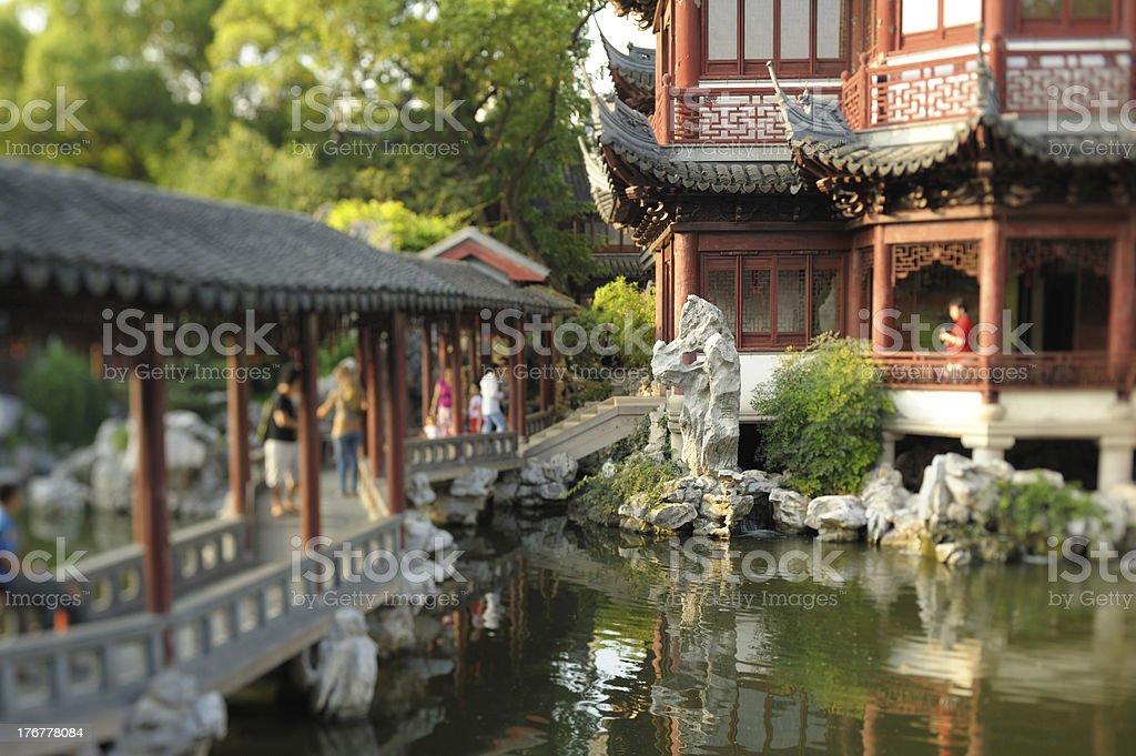 Yu Yuan Garden, Buffalo Year celebration stock photo
