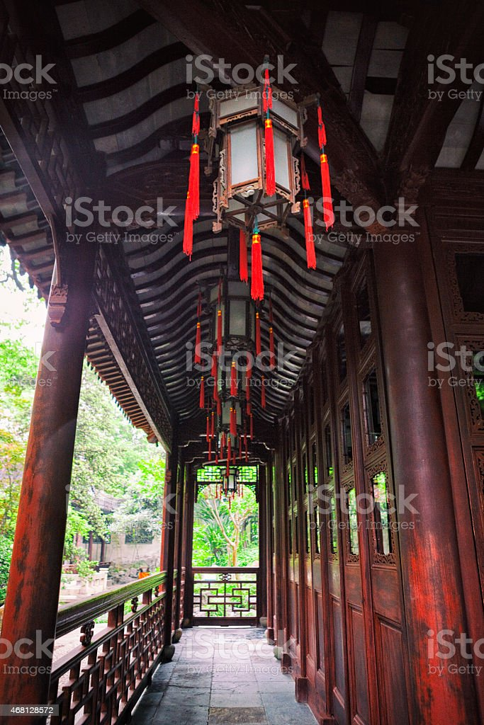 Yu Yuan Gardens in Shanghai, China stock photo