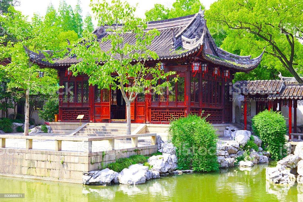 Yu Yuan Gardens in Shanghai, China royalty-free stock photo