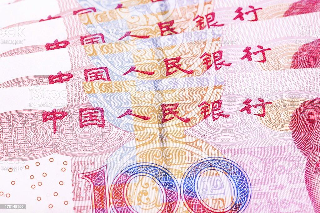 100 yuan chinese money royalty-free stock photo