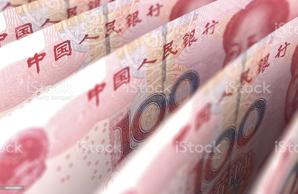Yuan Close-Up stock photo