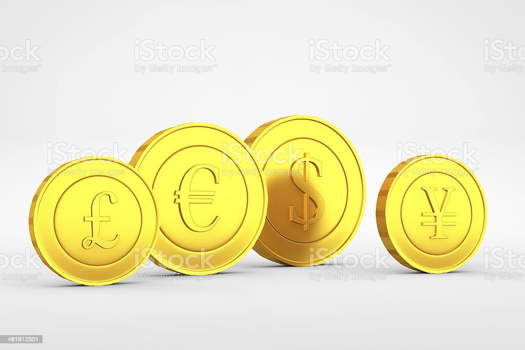 Yuan stands alone stock photo