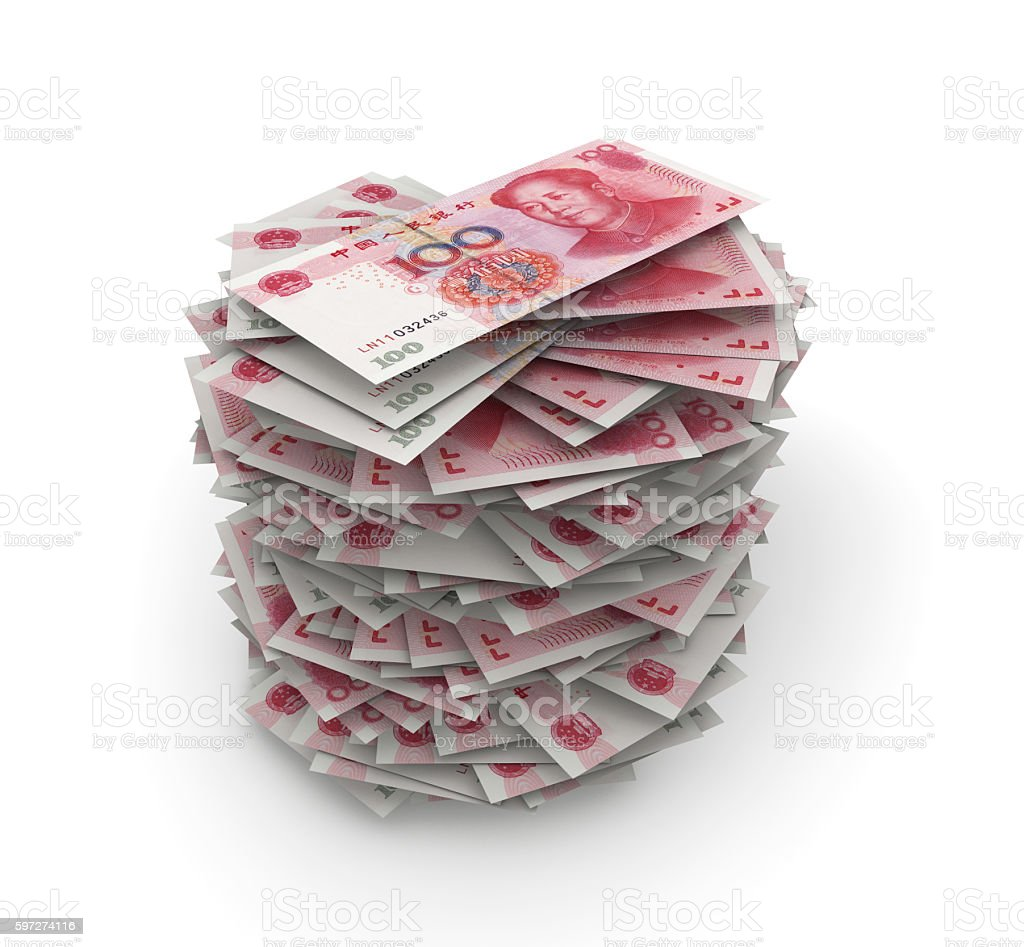 Yuans Stack royalty-free stock photo