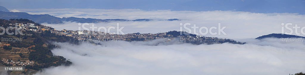 Yuanyang  County in Fog royalty-free stock photo