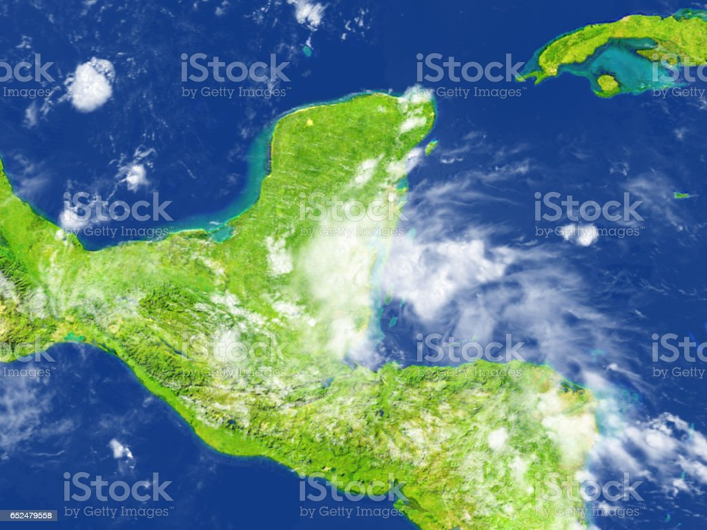 Yucatan on planet Earth stock photo