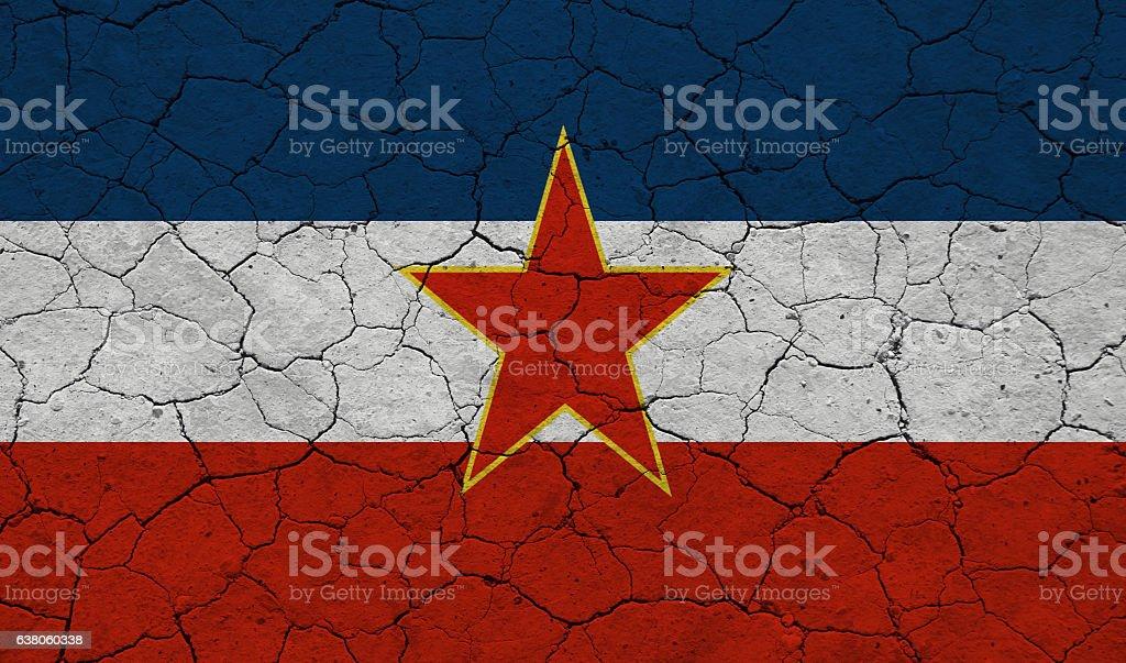 Yugoslavia flag stock photo