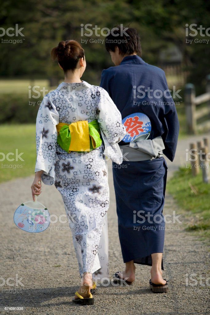 Yukata lover royalty-free stock photo