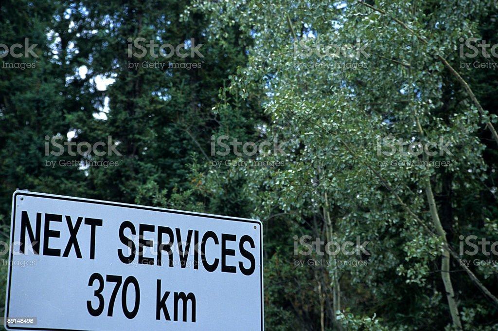 Yukon's endelss roads stock photo