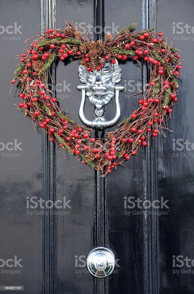 Yule Heart wreath stock photo