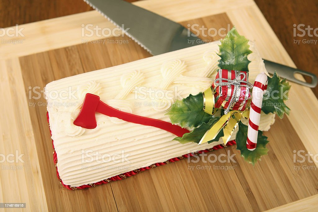 Yule log royalty-free stock photo