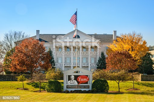 Louisville, KY, USA - Nov. 21, 2016:  Yum! Brands headquarters and support center in Louisville, KY.  Yum! is one of the world's largest restaurant companies operating Taco Bell, KFC and Pizza Hut.