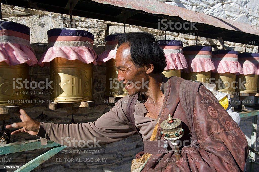 Yumbu Lagang Buddhist Monastery - Tibet stock photo