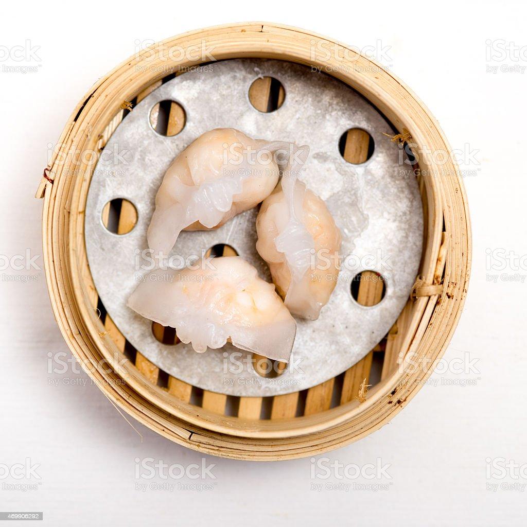 yumcha, dim sum in bamboo steamer, chinese cuisine stock photo