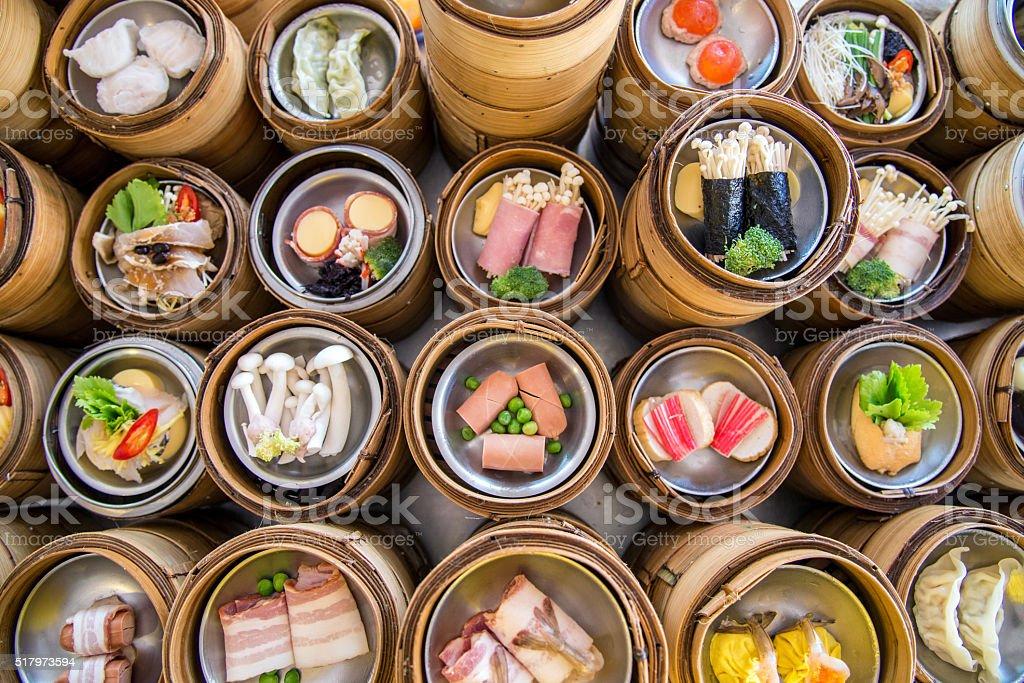 Yumcha Il Dim Sum In Bambù Vaporiera Cucina Cinese ...