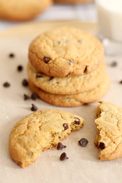 Yummy Chocolate Chip Cookies stock photo