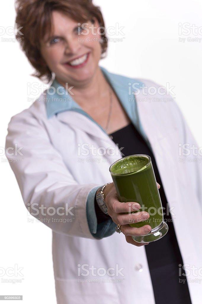 Yummy Green Drink royalty-free stock photo