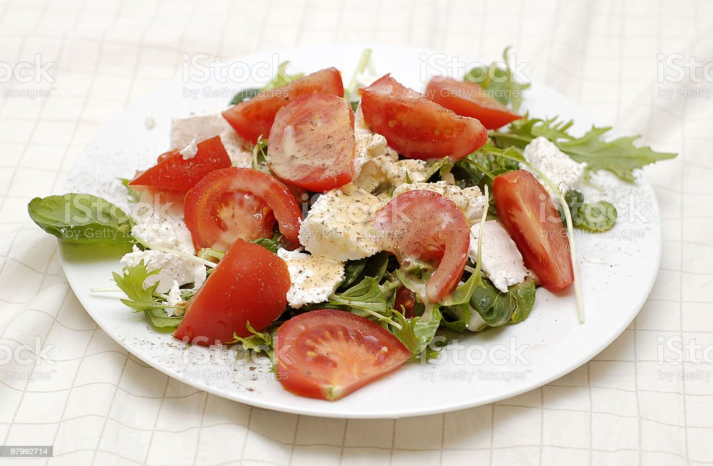 Yummy healthy salad royalty free stockfoto