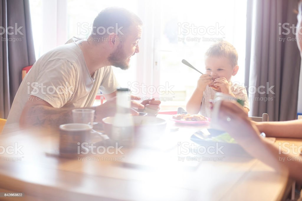 Yummy meal time stock photo