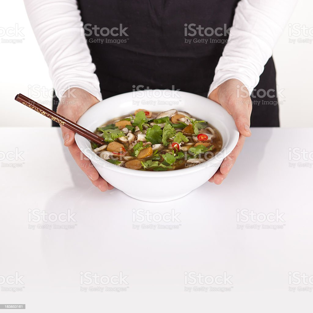 Yummy Miso noodle soup royalty-free stock photo