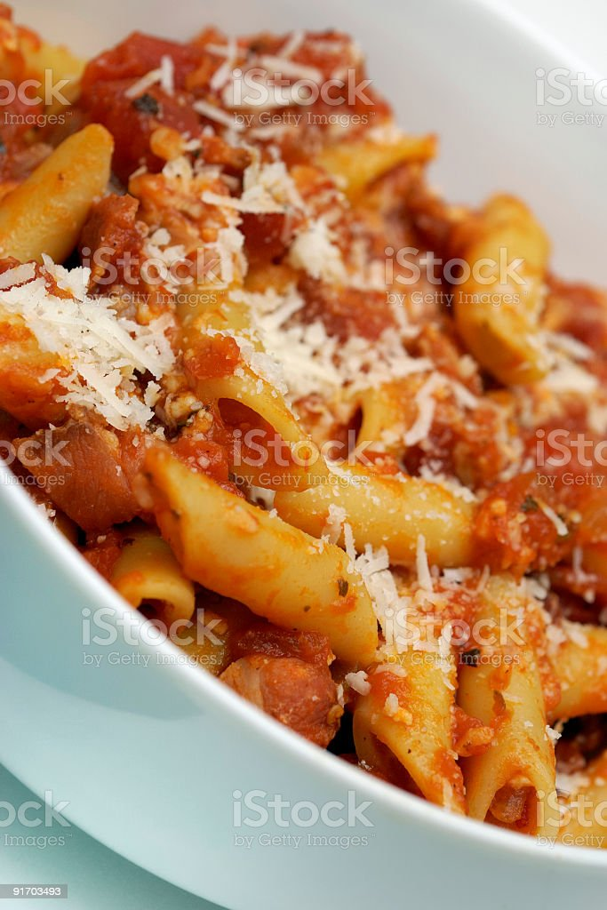 Yummy pasta dish stock photo