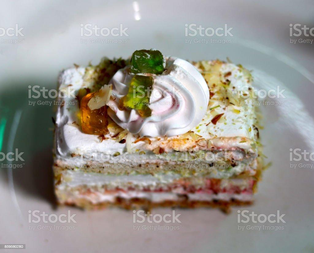 Yummy pastrie stock photo