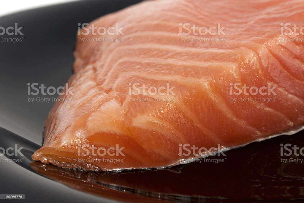 Yummy portion of salmon stock photo
