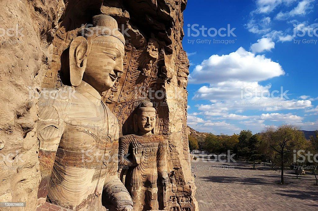 Yungang Buddhist Caves royalty-free stock photo