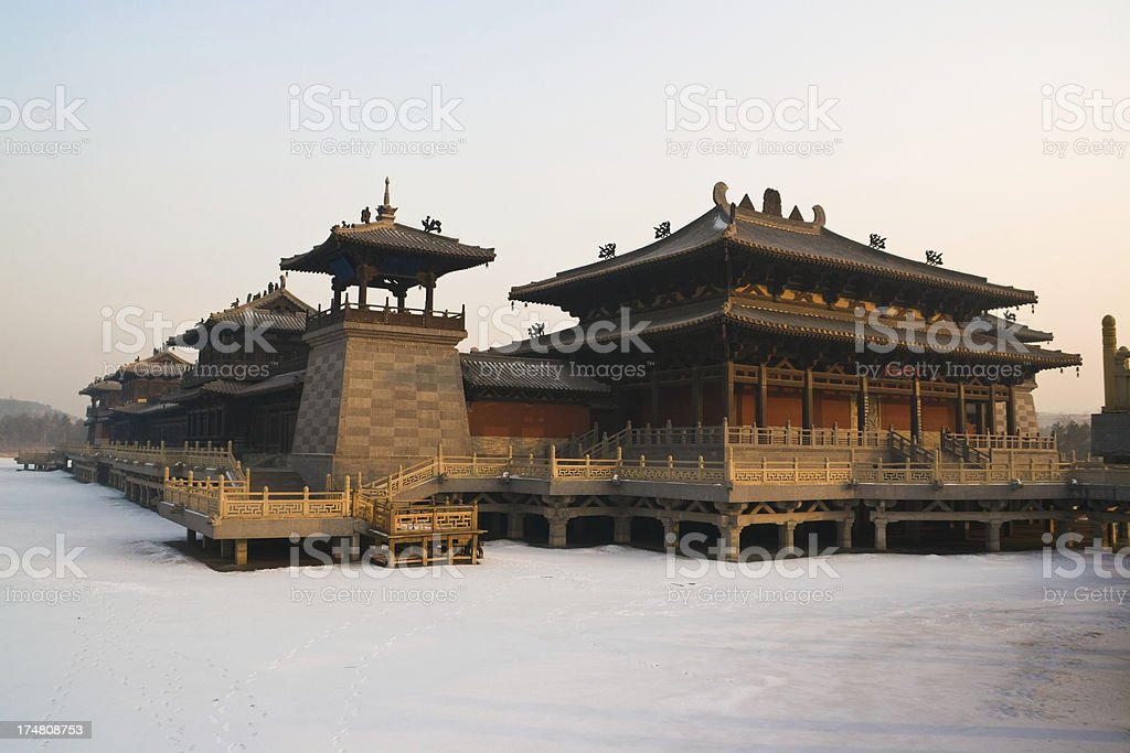 Yungang Grottoes complex - Datong royalty-free stock photo
