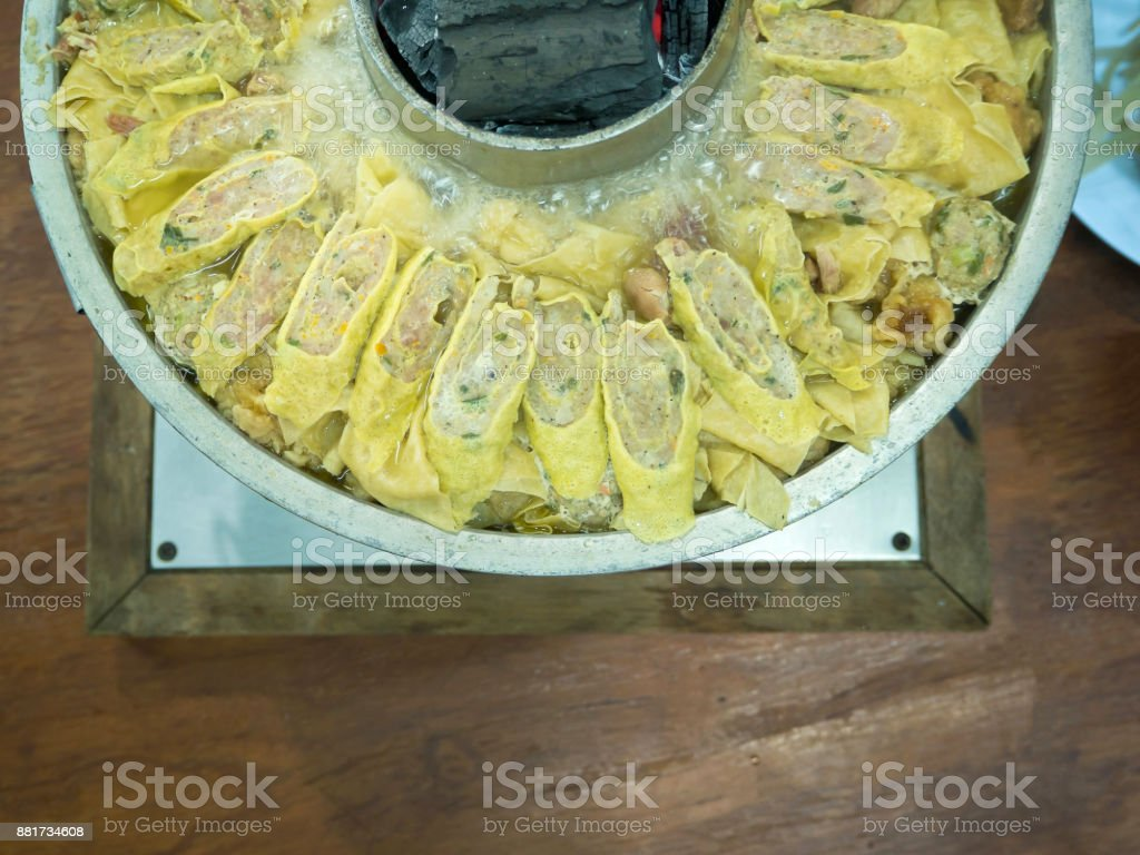 Yunnan Sukiyaki Yunnaneintopf Mit Sorten Zutaten Chinesischen