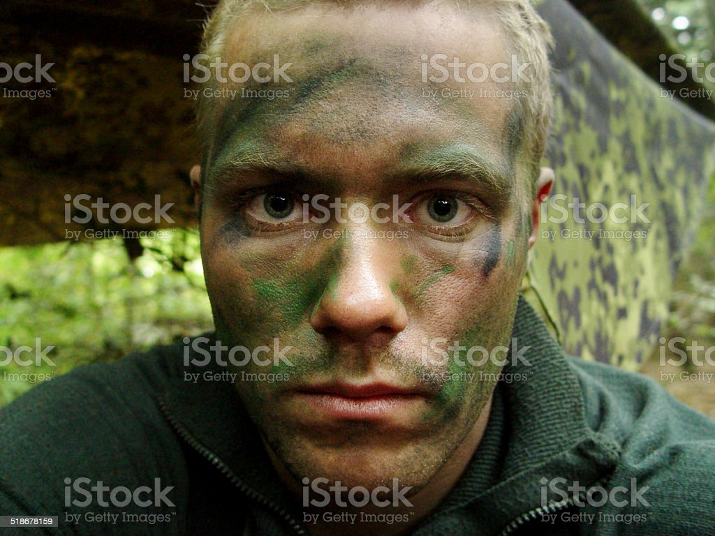 What 5 days of patrol with no sleep looks like stock photo