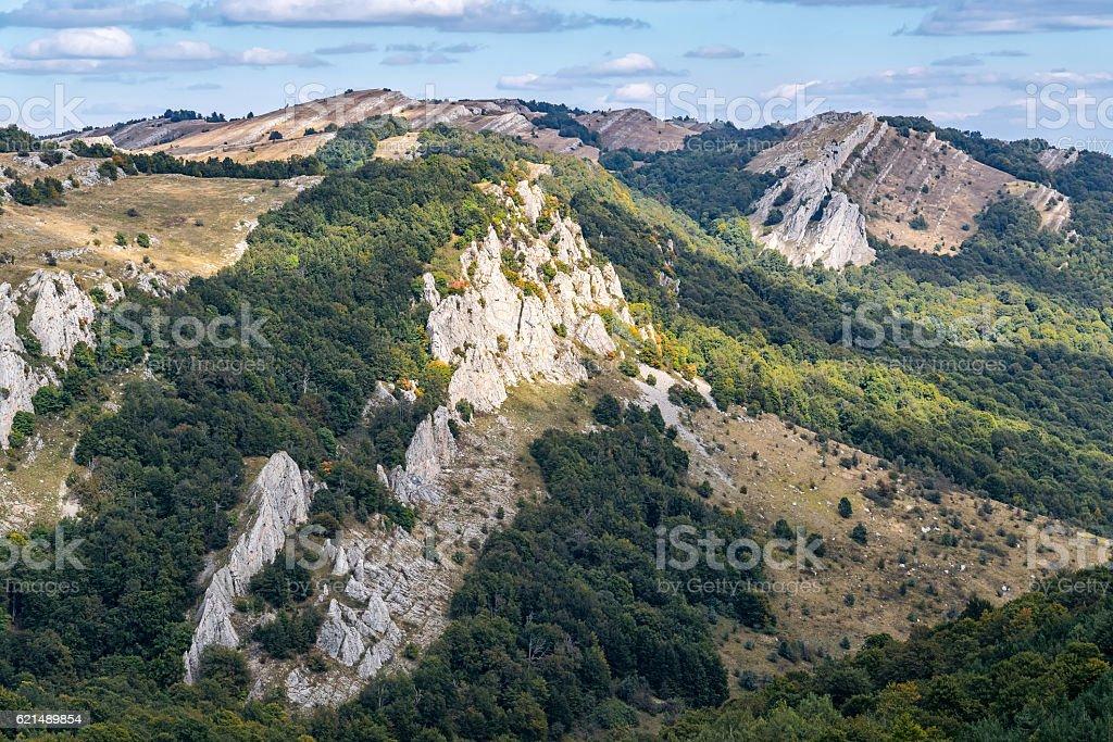Yurkiny rocks on the mountain Demerdzhi photo libre de droits
