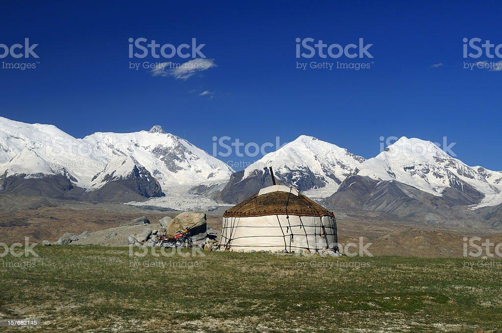 Yurt in the Kungur range stock photo