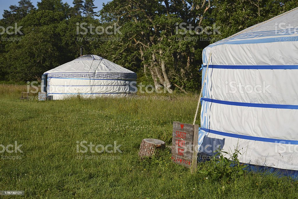 Yurt – Mongolian Ger royalty-free stock photo