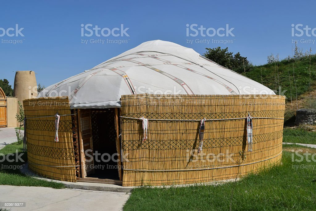 Yurta of the people of Central Asia stock photo