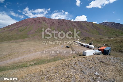 istock Yurts in the village in Pamir highway, Kyrgyzstan 1195246646