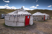 istock Yurts in the village in Pamir highway, Kyrgyzstan 1195246673