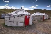 istock Yurts in the village in Pamir highway, Kyrgyzstan 1195246673
