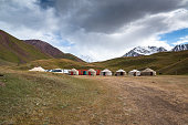 istock Yurts in the village in Pamir highway, Kyrgyzstan 1195247345