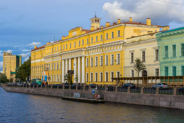 Yusupov Palace The facade of the Yusupov Palace also called Moika Palace on the namesake river artistical stock pictures, royalty-free photos & images
