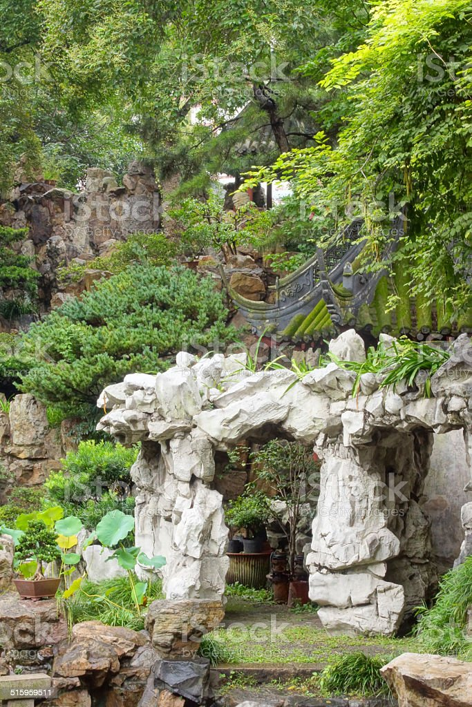 Yuyuan garden stock photo