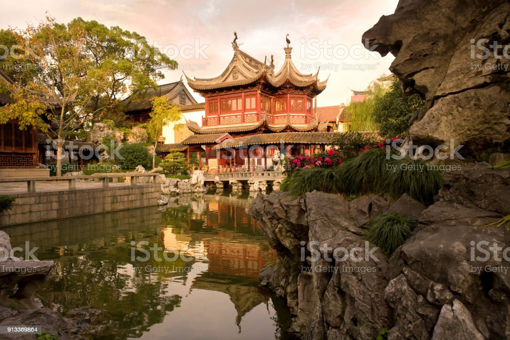 Yuyuan Garden stock photo