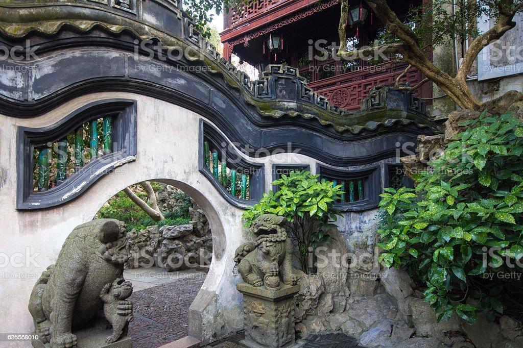 Yuyuan Garden, Pudong, Shanghai, China stock photo