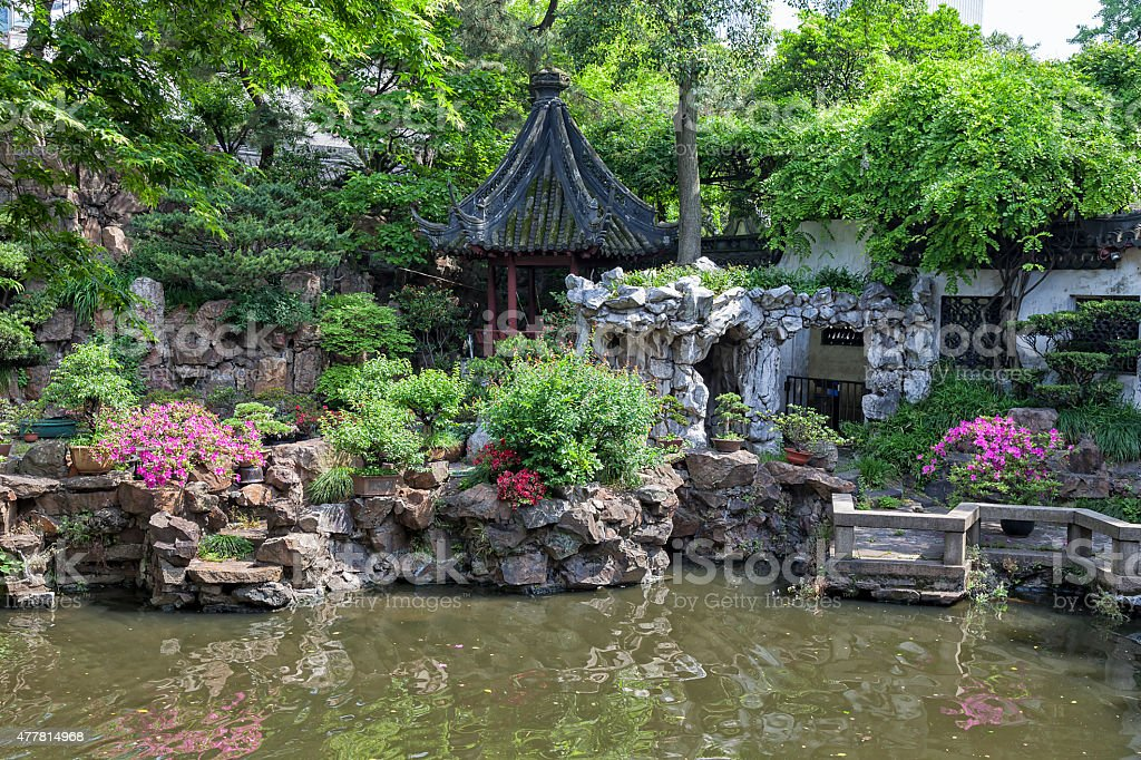 Yuyuan Gardens in Old Town of Shanghai, China stock photo