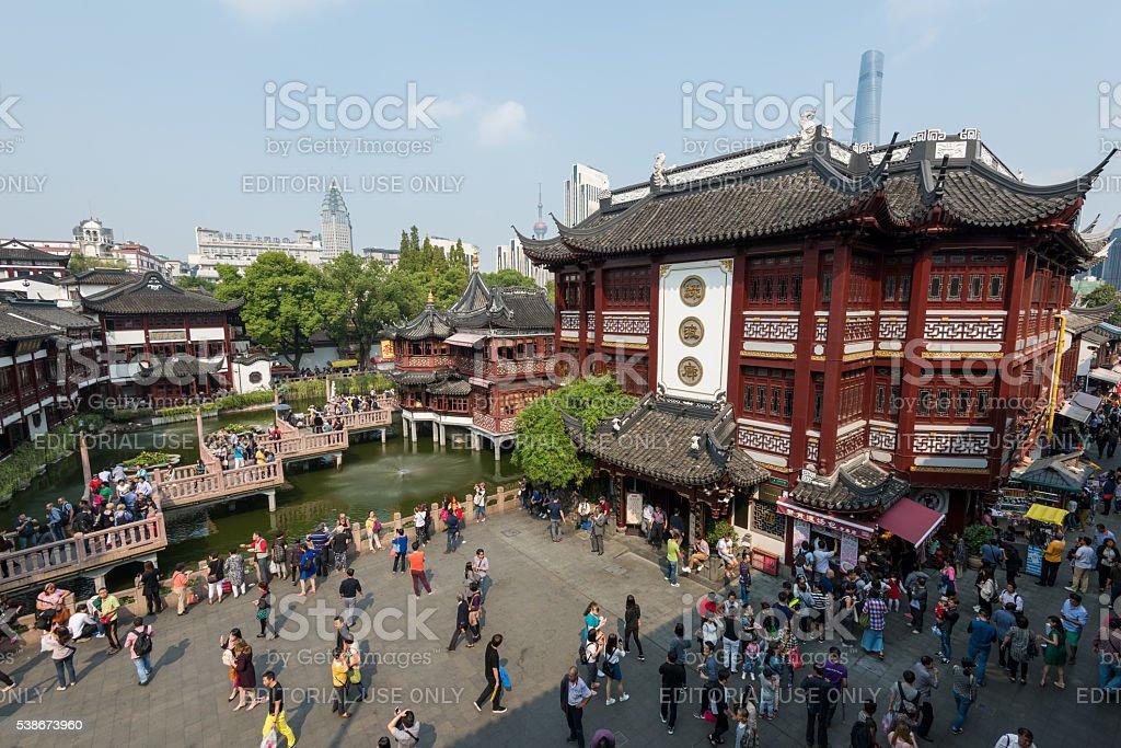 Yuyuan Gardens, Shanghai - China. stock photo