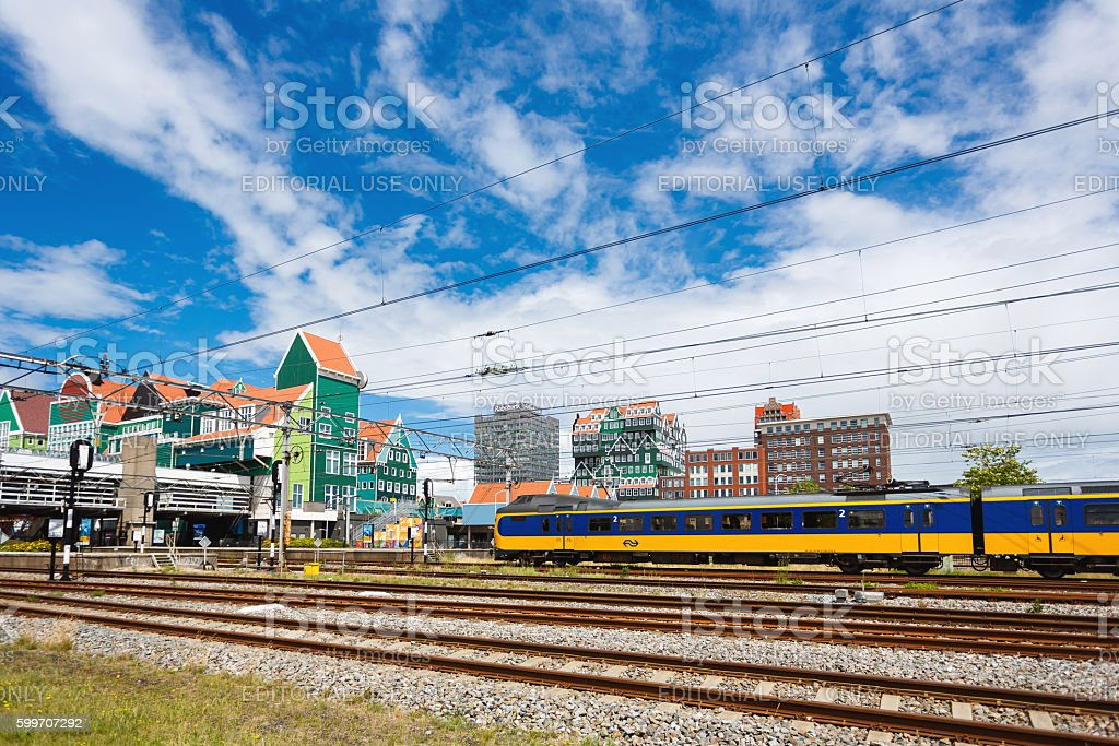 Zaandam Central Railroad Station, Netherlands stock photo