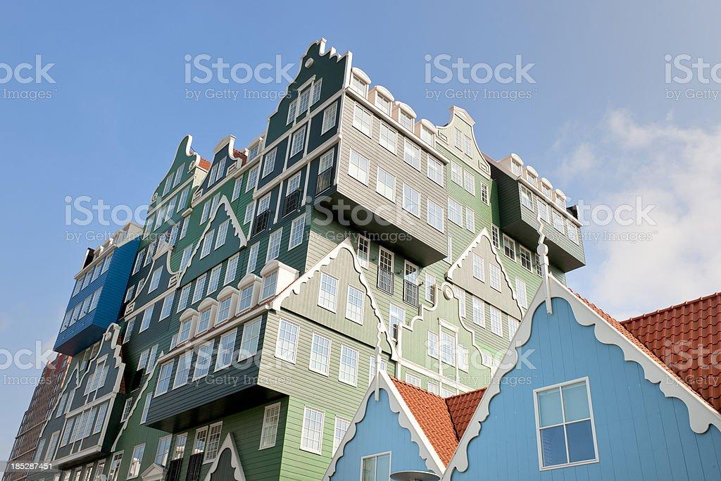 Zaanse Schans style hotel facade royalty-free stock photo