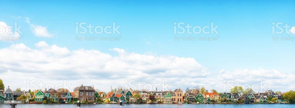 Zaanse Schans Village Architecture. foto stock royalty-free