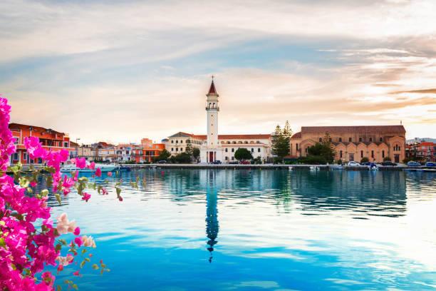Zaante town, Zakinthos Greece stock photo